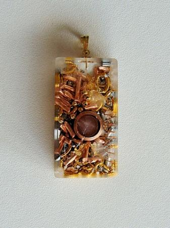 orgonites pendentif rectangle